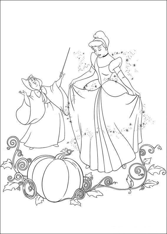 Disegno di Cenerentola da colorare 01