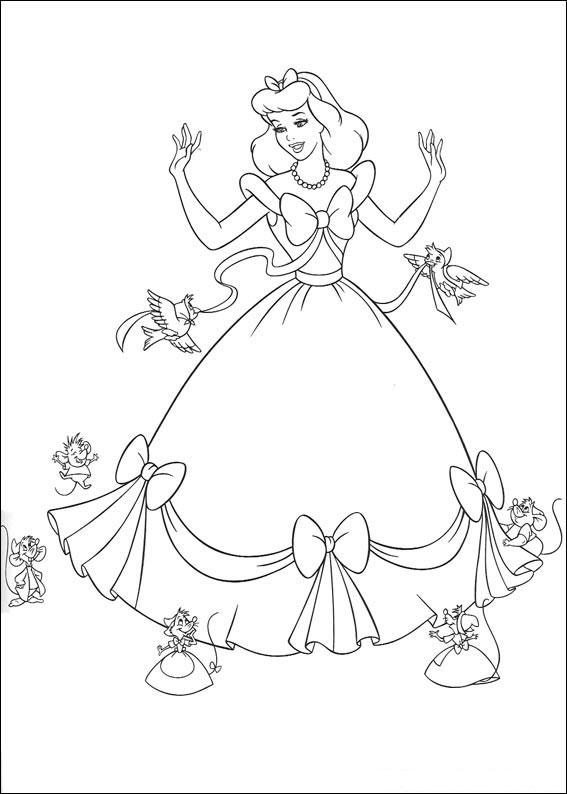 Disegno di Cenerentola da colorare 02