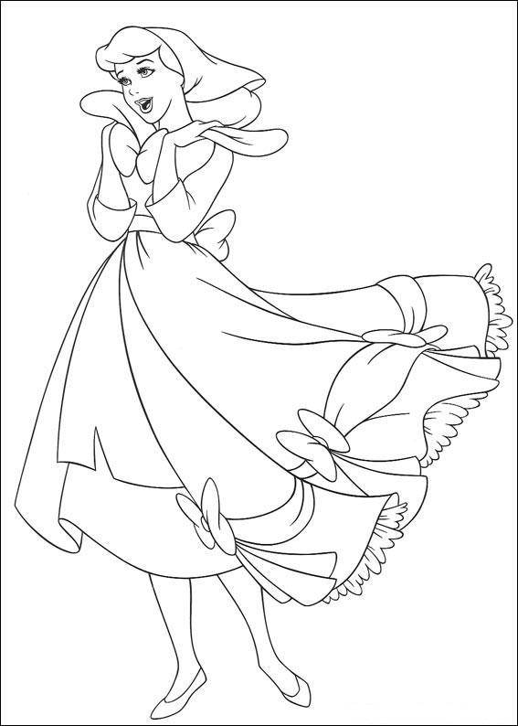 Disegno di Cenerentola da colorare 03