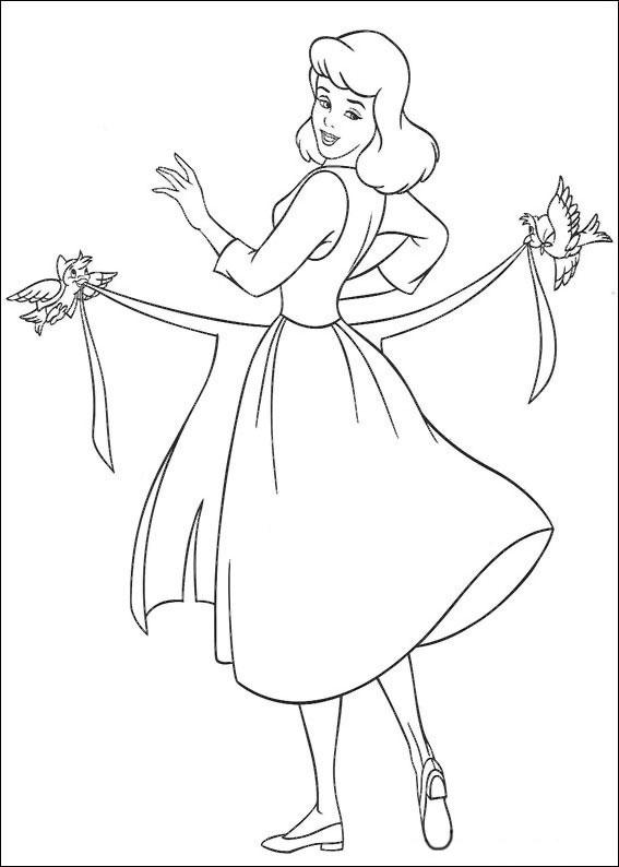 Disegno di Cenerentola da colorare 05