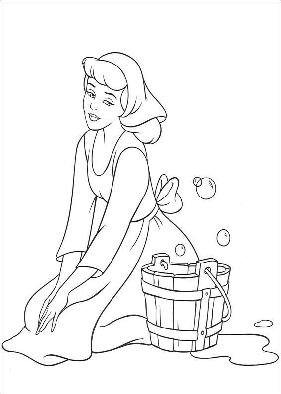 Disegno di Cenerentola da colorare 07