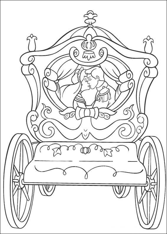 Disegno di Cenerentola da colorare 08
