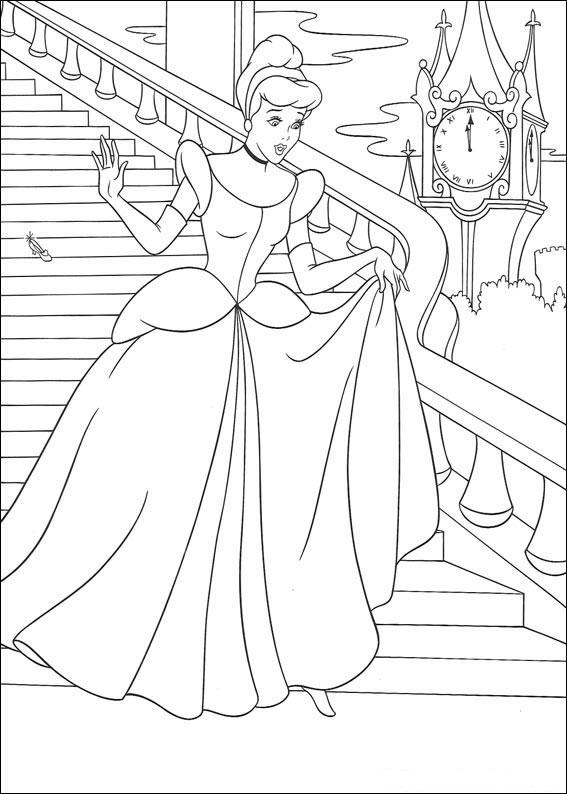 Disegno di Cenerentola da colorare 10