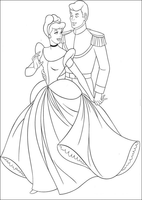 Disegno di Cenerentola da colorare 11