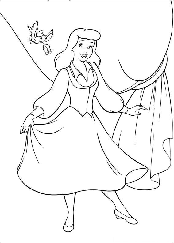 Disegno di Cenerentola da colorare 13