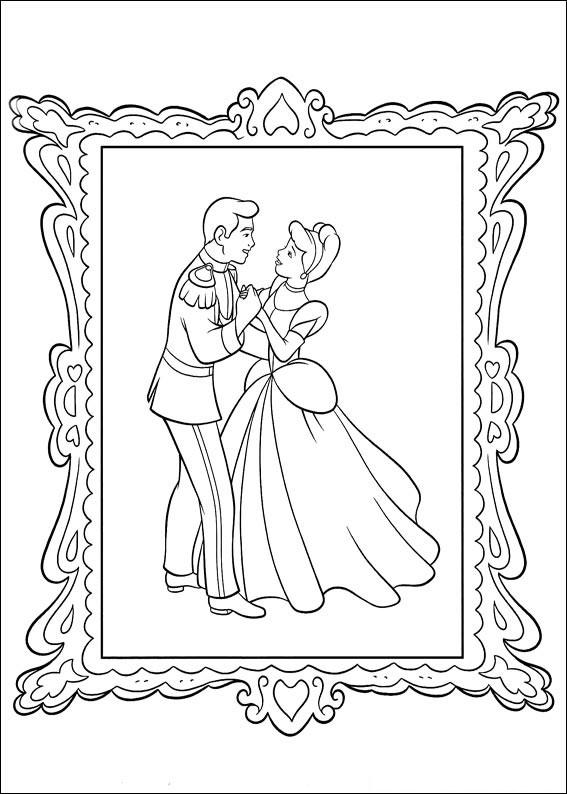 Disegno di Cenerentola da colorare 16