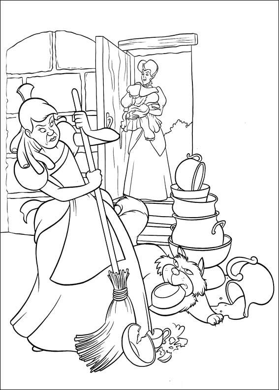 Disegno di Cenerentola da colorare 20