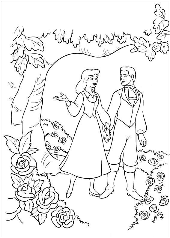 Disegno di Cenerentola da colorare 25