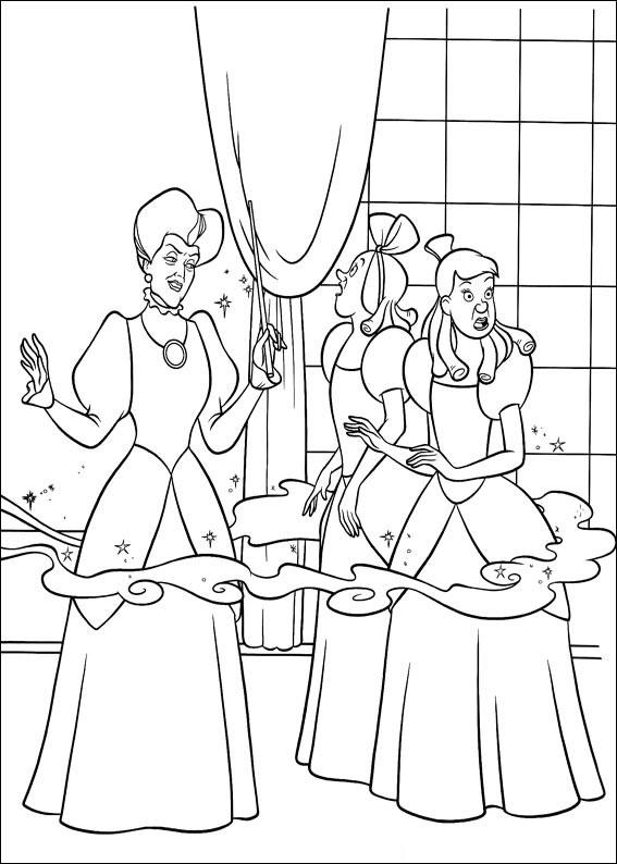 Disegno di Cenerentola da colorare 31