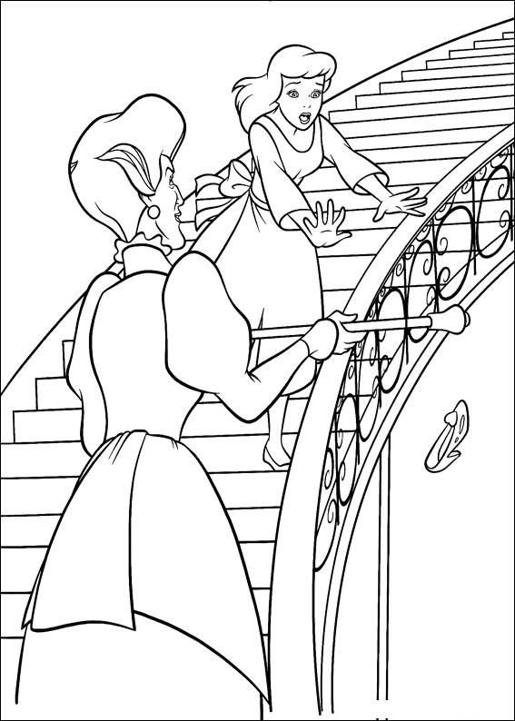 Disegno di Cenerentola da colorare 34