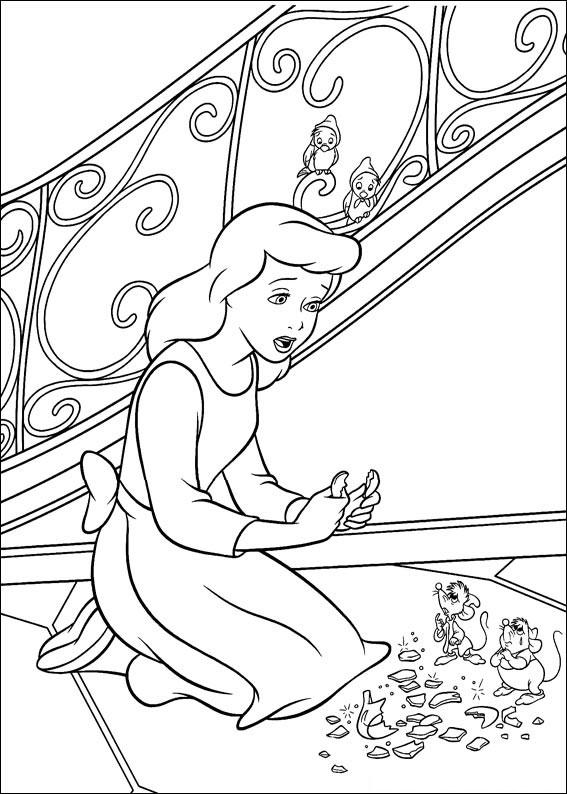 Disegno di Cenerentola da colorare 35