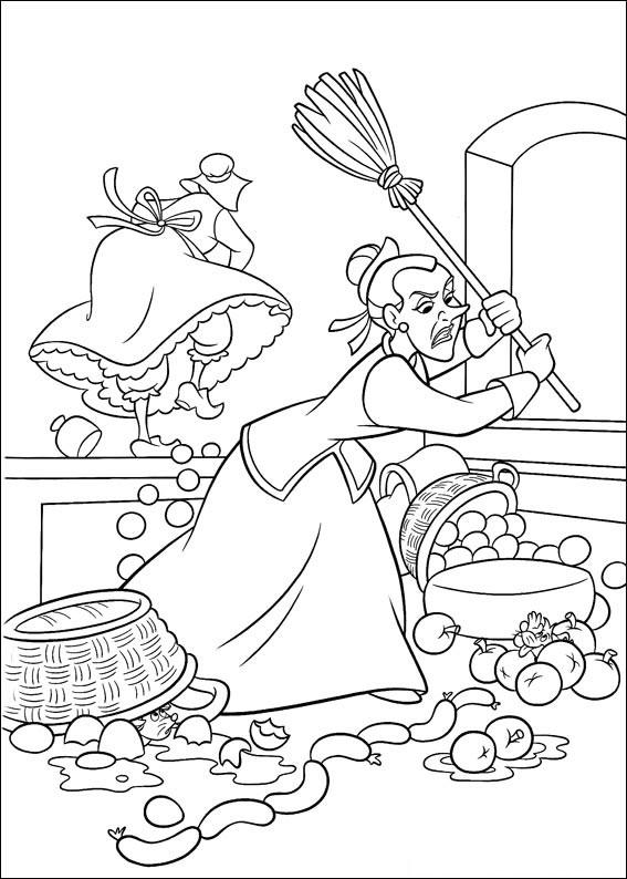 Disegno di Cenerentola da colorare 38
