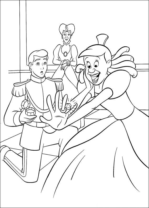 Disegno di Cenerentola da colorare 41