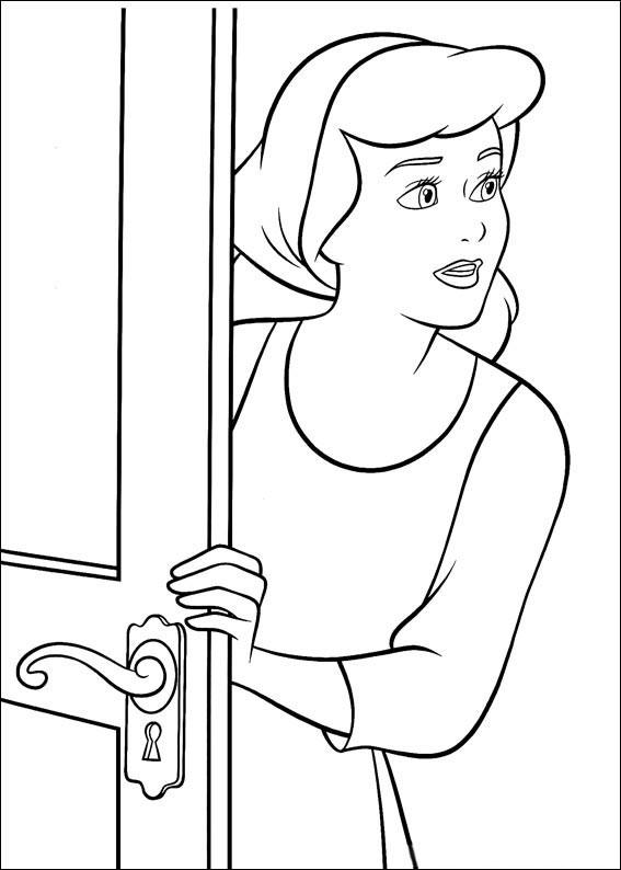 Disegno di Cenerentola da colorare 44