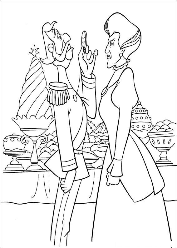 Disegno di Cenerentola da colorare 46