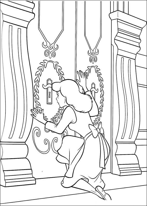 Disegno di Cenerentola da colorare 51
