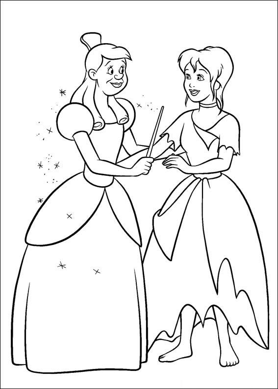 Disegno di Cenerentola da colorare 63