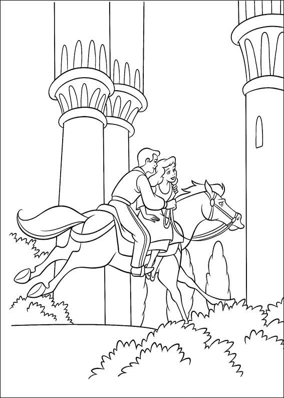 Disegno di Cenerentola da colorare 75