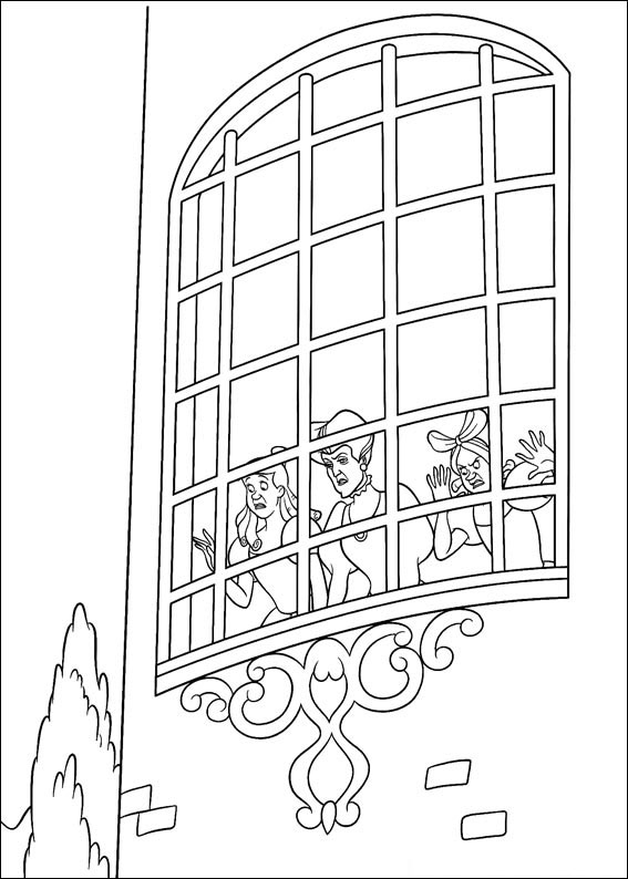 Disegno di Cenerentola da colorare 76