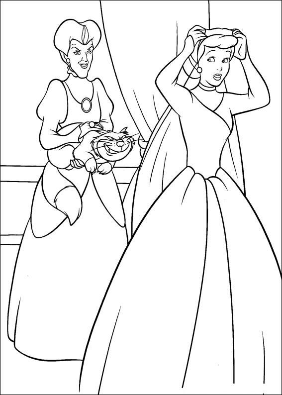 Disegno di Cenerentola da colorare 81
