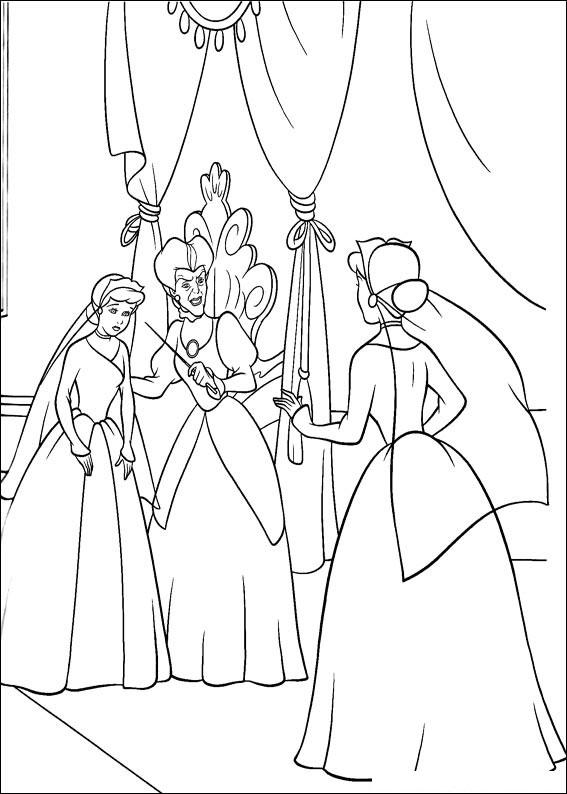 Disegno di Cenerentola da colorare 82