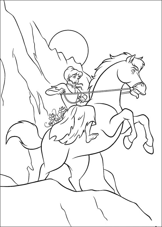 Disegno di Cenerentola da colorare 88