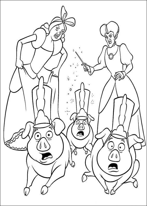 Disegno di Cenerentola da colorare 95