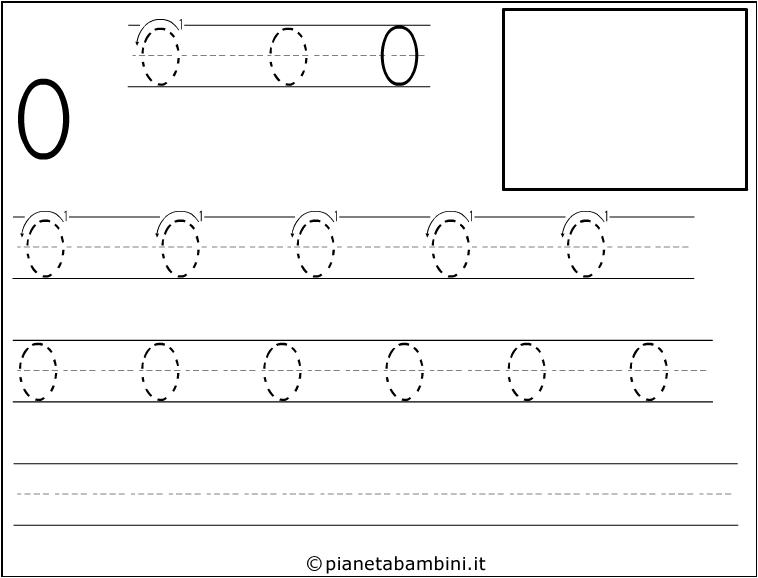 disegni tratteggiati per imparare a scrivere i numeri