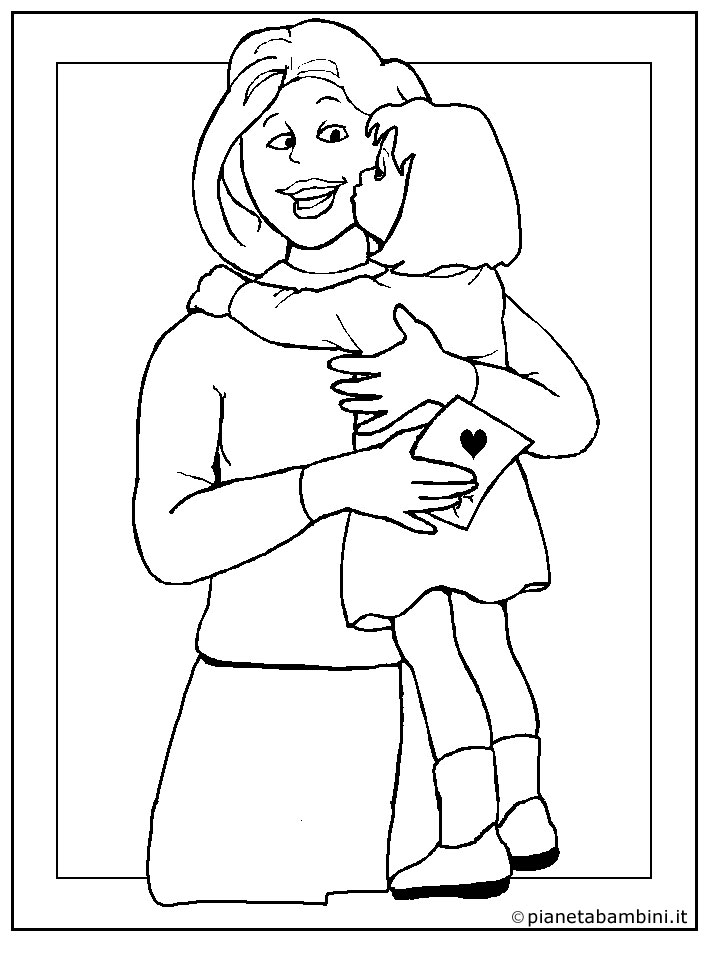 Disegni per la festa della mamma da colorare