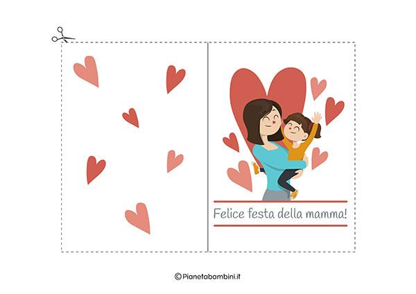 Immagine del biglietto di auguri per la festa della mamma da stampare n.01