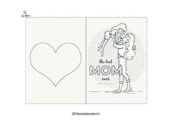 Immagine del biglietto di auguri per la festa della mamma da stampare n.04