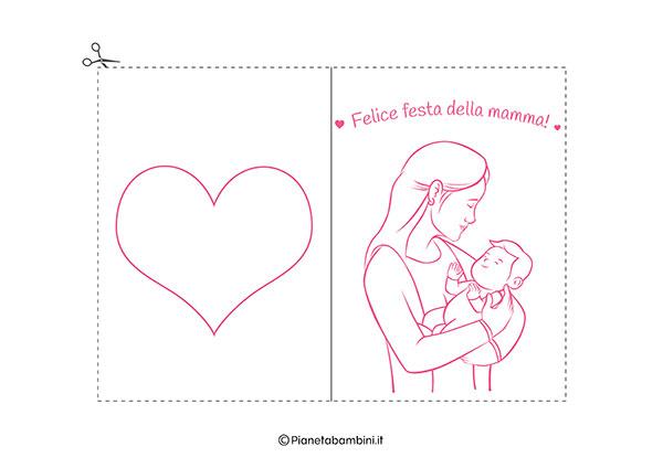 Immagine del biglietto di auguri per la festa della mamma da stampare n.05