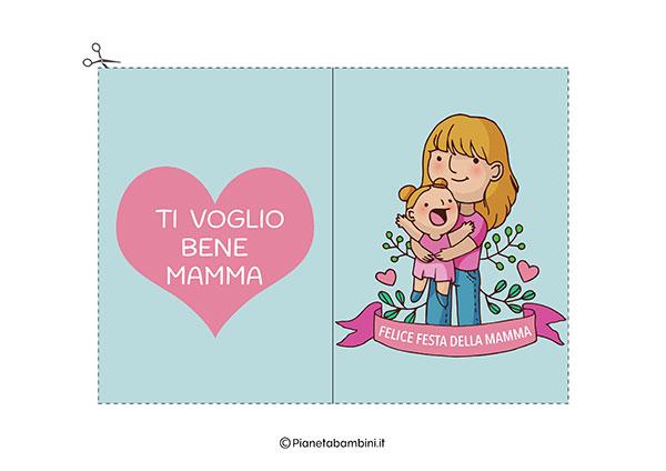 Immagine del biglietto di auguri per la festa della mamma da stampare n.08