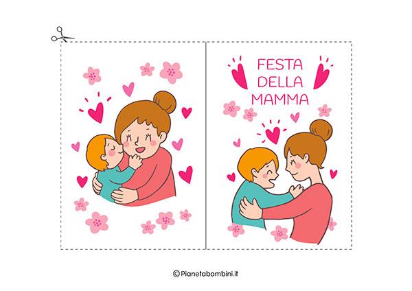 Immagine del biglietto di auguri per la festa della mamma da stampare n.09