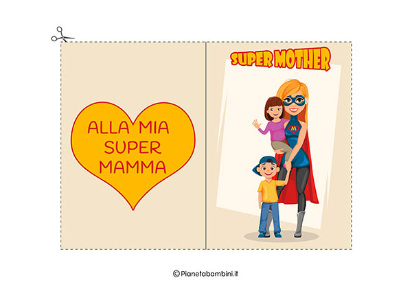 Immagine del biglietto di auguri per la festa della mamma da stampare n.10