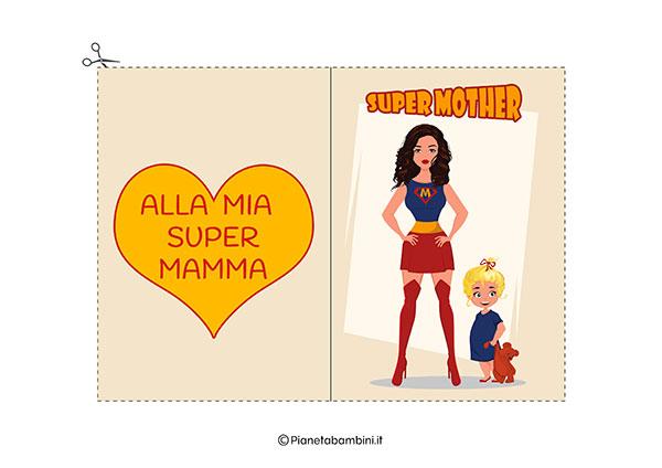 Immagine del biglietto di auguri per la festa della mamma da stampare n.11