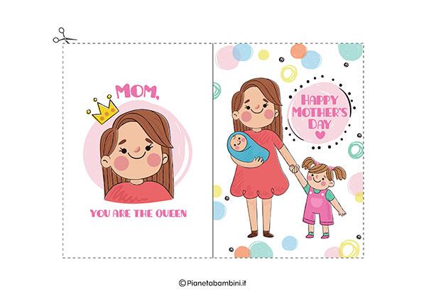 Immagine del biglietto di auguri per la festa della mamma da stampare n.14