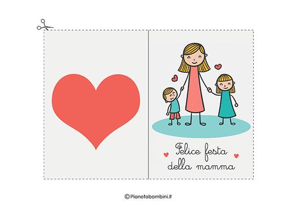 Immagine del biglietto di auguri per la festa della mamma da stampare n.15