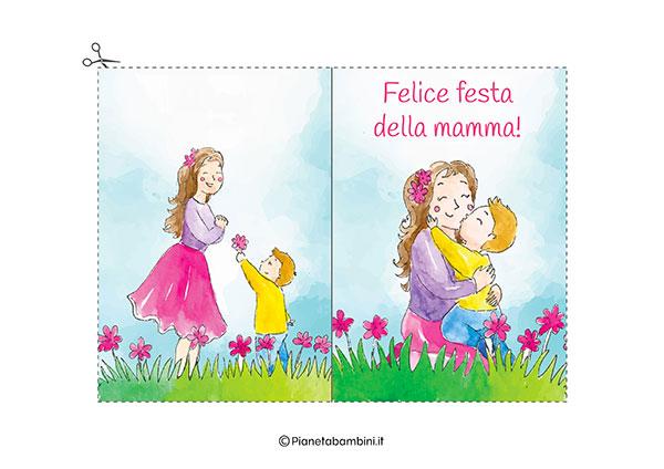 Immagine del biglietto di auguri per la festa della mamma da stampare n.16