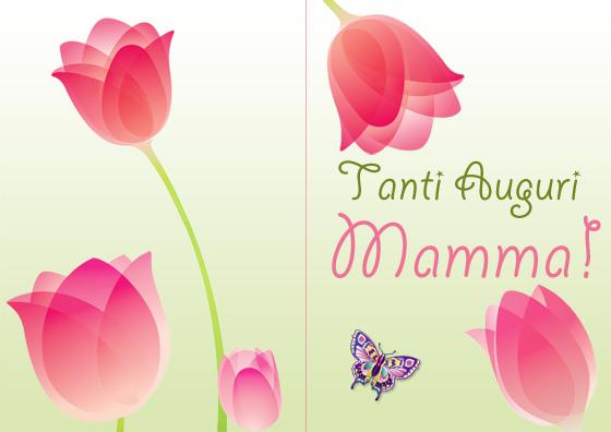 Immagine del primo biglietto della Festa della Mamma