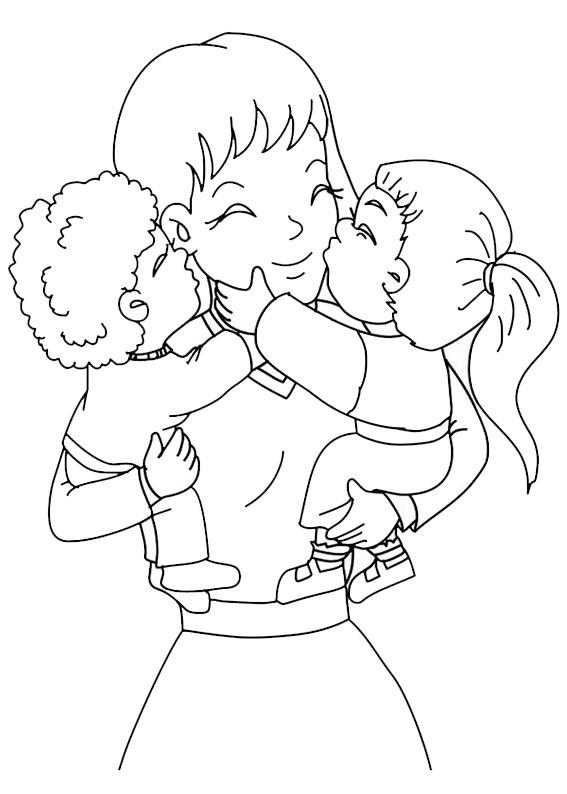 Illustrazione Festa della Mamma da colorare 04