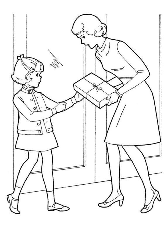 Illustrazione Festa della Mamma da colorare 07