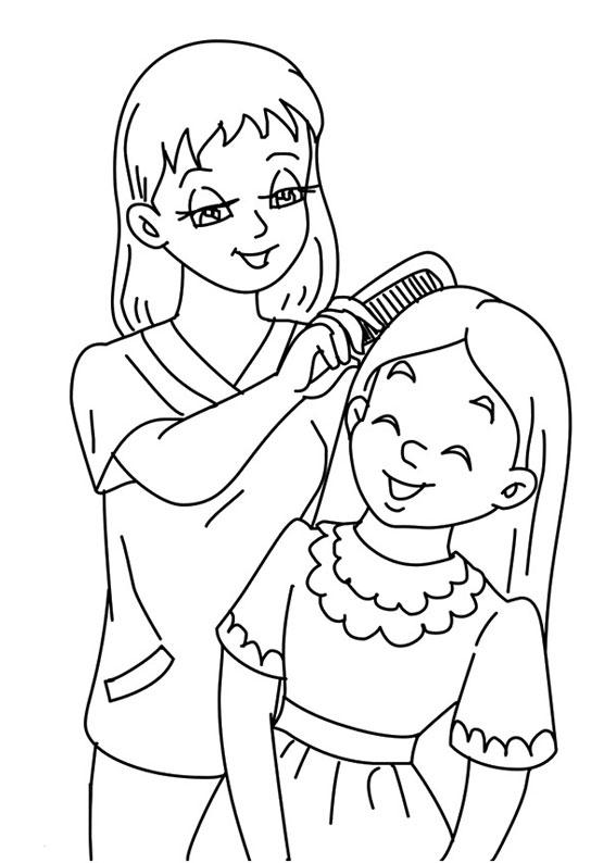 Illustrazione Festa della Mamma da colorare 09