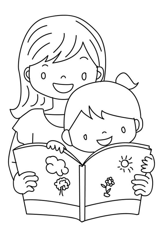 Illustrazione Festa della Mamma da colorare 10