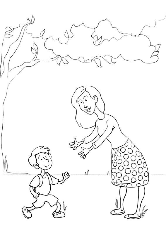 Illustrazione Festa della Mamma da colorare 11