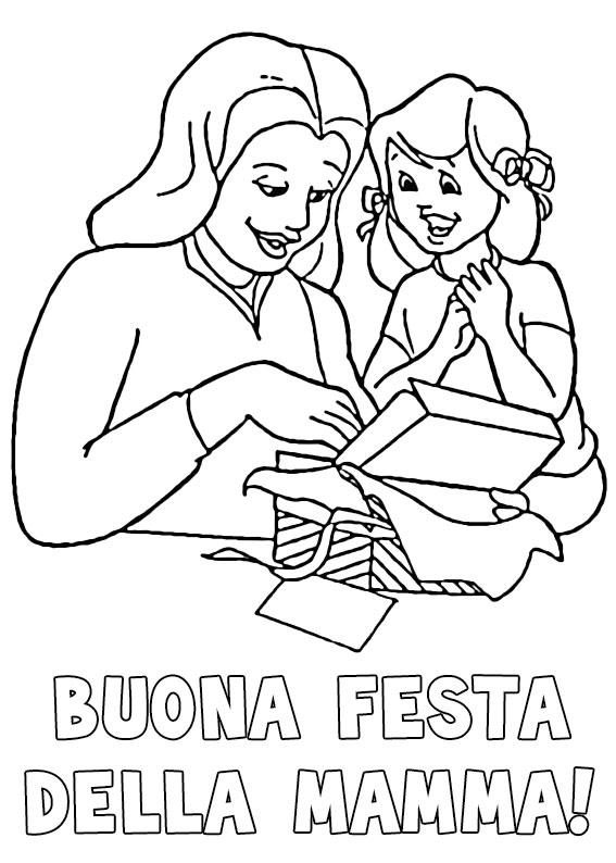 Illustrazione Festa della Mamma da colorare 16