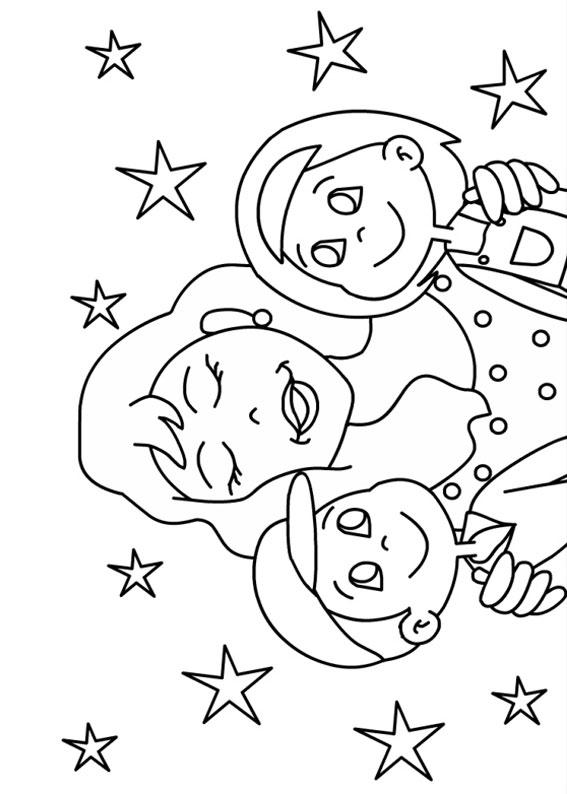 Illustrazione Festa della Mamma da colorare 19