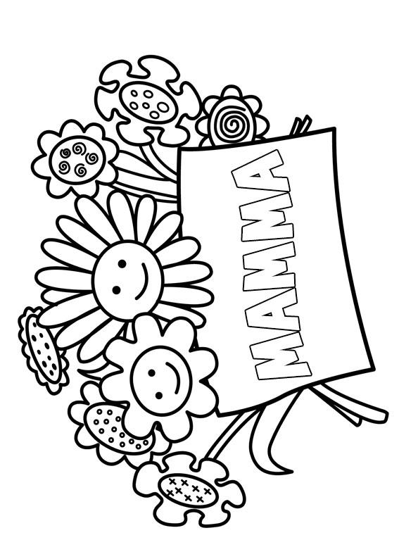 Illustrazione Festa della Mamma da colorare 20