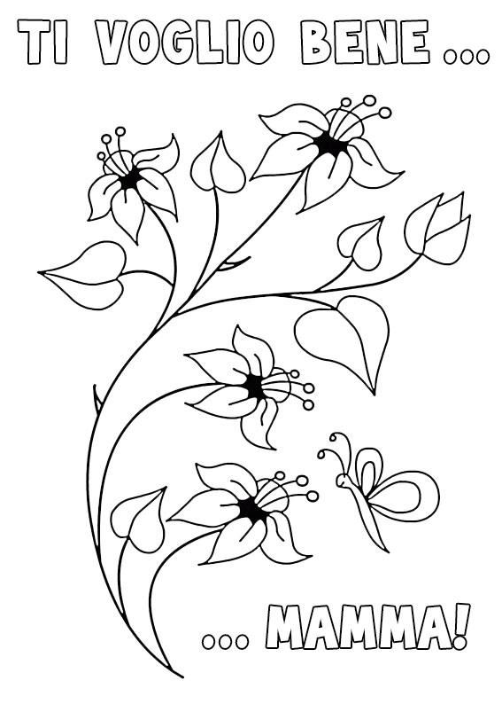 Illustrazione Festa della Mamma da colorare 22