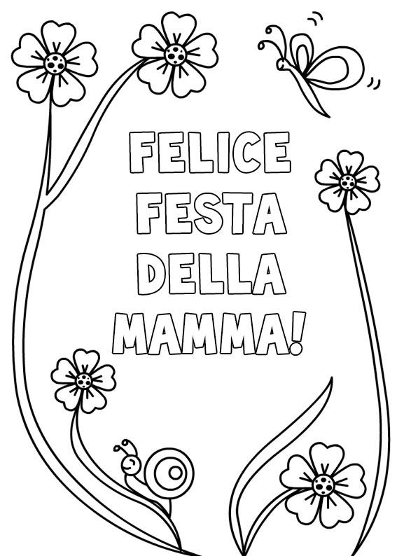 Illustrazione Festa della Mamma da colorare 23